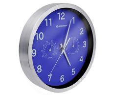 Bresser MyTime Thermo/Hygro Horloge murale en Métal, bleu