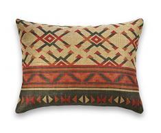 Guapore Toile de Jute Kilim Coussin de décoration, rectangulaire, 50x 70cm, Multicolore