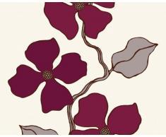 Esprit 1409-44 Papier Peint, Fleurs vrillées, Rouge-Marron crème, Design City Glam (Import Allemagne)
