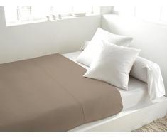 Soleil dOcre 213800 Drap Plat Coton 57 Fils Uni Blanc 290 x 180 cm