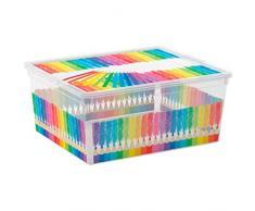Kis 8409000 2061 01 C Box Style Colours Arty Boîte de Rangement Plastique Multicolore 18 L