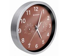 Bresser MyTime Thermo/Hygro Horloge murale en Métal, Marron
