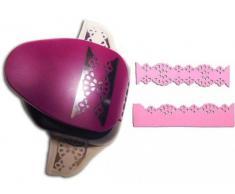 Efco 2 fonctions Bordure Napperon en dentelle Punch, Rose, 5.1 cm/5,1 cm