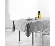 Douceur dIntérieur Nappe Rectangle, Polyester, Gris, 240x150 cm