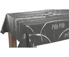 Le linge de Jules Nappe Shiny - Entretien Facile Gris foncé - Taille : Rectangle 150x240 cm
