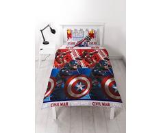 Guerre Civile Marvel Captain America Couette Rotatif Unique Jeu De Couverture