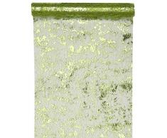 Santex 4721 Chemin de Table Fantaisie Brillant Polyester Vert