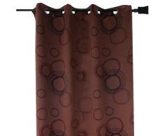 HomeMaison HM69851181 Rideau 100 % Occultant Imprimé Cercles Chocolat