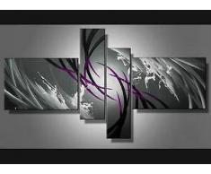 EVANOA Tableau design aubergine gris peinture