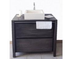 BAIN ET TECK Meuble de salle de bain en teck grisé Sirocco grey solo