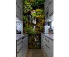 Papier peint japonais jardin et chute d'eau Intissé mat,