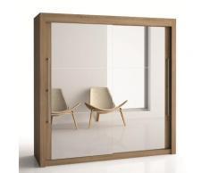 Armoire 2 portes miroir H220 cm Deborah, 180 cm