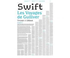 Livre-poster les Voyages de Gulliver - Swift,