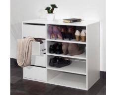 Meuble à chaussures 4 niches 4 tiroirs Megeve,