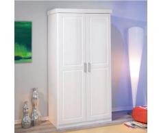 Armoire 2 portes Idaline teintée blanc,
