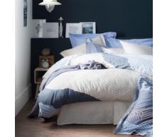 Housse de couette satin Zahara ESSIX HOME, bleu, 260 x 240 cm