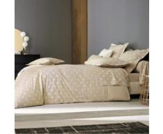 Parure de lit percale Charlotte BLANC DES VOSGES, Chanvre, 200 x 200 cm
