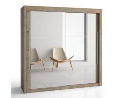 Armoire 2 portes miroir Deborah H200 cm, 150 cm