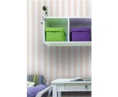 Papier peint rayures classiques rose pastel,