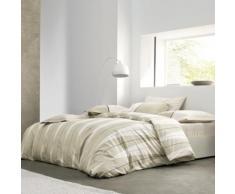 Parure de lit Arlequin BLANC DES VOSGES, Ficelle, 200 x 200 cm