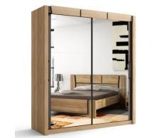 Armoire 2 portes coulissantes Douglas Noyer, 180 cm