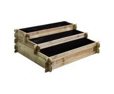 Carré potager en bois à étages,