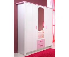Armoire 3 portes Candice rose,