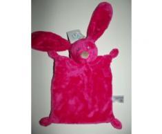 Doudou Plat Lapin Kiabi Rose Fushia Jouet Bebe Naissance Enfant Comfort Blanket Comforter Soft Toy Peluche