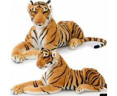 Peluche Tigre Xxl 136cm Couche - Imposante Realiste Douce Et Soyeuse