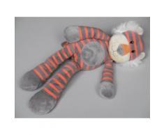 Doudou Tigre Max & Sax Carrefour Peluche Max Et Sax Tigr Marron /Gris Orange Plush Comforter Soft Toys 33 Cm