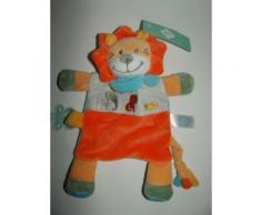 Doudou Lion Tex Baby Attache Tetine Sucette Orange Blanc Bleu Oiseau Leopard Elephant Peluche Bebe Jouet Eveil Soft Toys