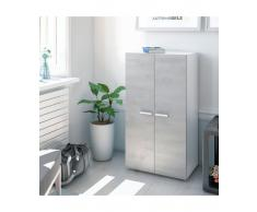 ARMOIRE A CHAUSSURES 2 PORTES GREY