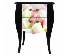 Print Baroque - Sweet Table de chevet 2 tiroirs - Imprimé bonbons Alinea Multicolore