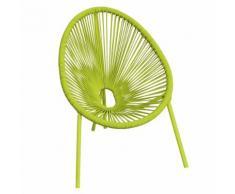 Chaise verte forme uf pour enfant