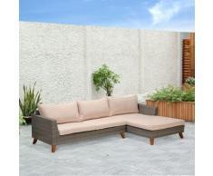 Palawan Salon de jardin gris effet rotin tressé (4 à 6 places) Alinea