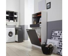 Bucato Colonne de rangement de salle de bains H137cm Alinea Gris