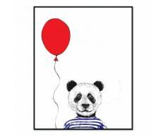 Affiche encadrée enfant 40x50cm panda Multicolore