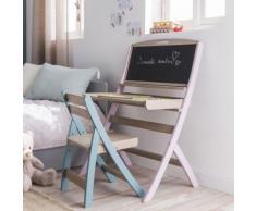 Chaise évolutive pour enfant en acacia coloris bleu