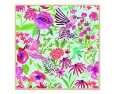 Affiche encadrée enfant 40x40cm effet aquarelle Multicolore