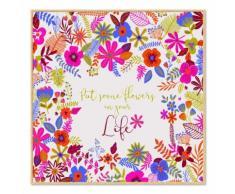 Affiche encadrée enfant 40x40cm fleurs Multicolore