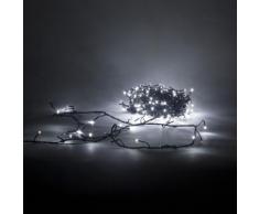 Guirlande électrique clignotante à LED blanc froid L3m60 Blanc, Noir