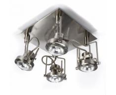 Plafonnier 4 lumières Led