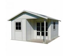 Abri de jardin Grosfillex blanc/gris vert PVC 20 m² Blanc, Gris, Vert