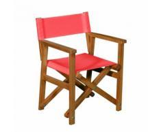 Chaise de casting pliable rouge pour enfant Rouge