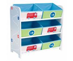 Lilo Étagère de rangement à 6 casiers en textile pour enfant Alinea Bleu