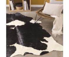 Tapis en peau de vache 140x200cm noir et blanc