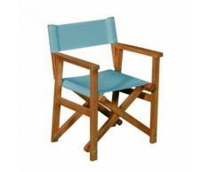 Chaise de casting pliable bleue pour enfant Bleu