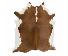 Tapis en peau de vache 170x240cm marron noisette