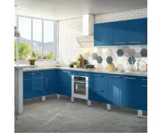 Meuble de cuisine haut 1 porte bleu 60cm