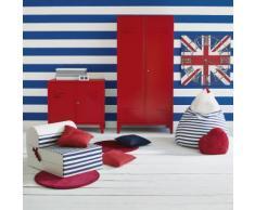 Armoire rouge en acier 2 portes battantes Rouge